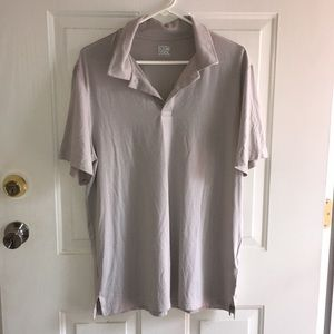 New Men's 32 Degrees Cool Polo Shirt Lt Gray Large